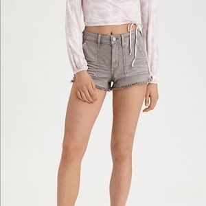 AE HIGH WAISTED FESTIVAL SHORTS IN GRAY